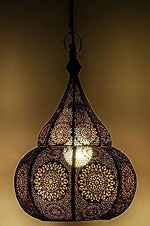 Lámpara Oriental Marroquí - lamparilla colgante - farola de techo Ilham - 40cm - muy práctica para una iluminación excelen...
