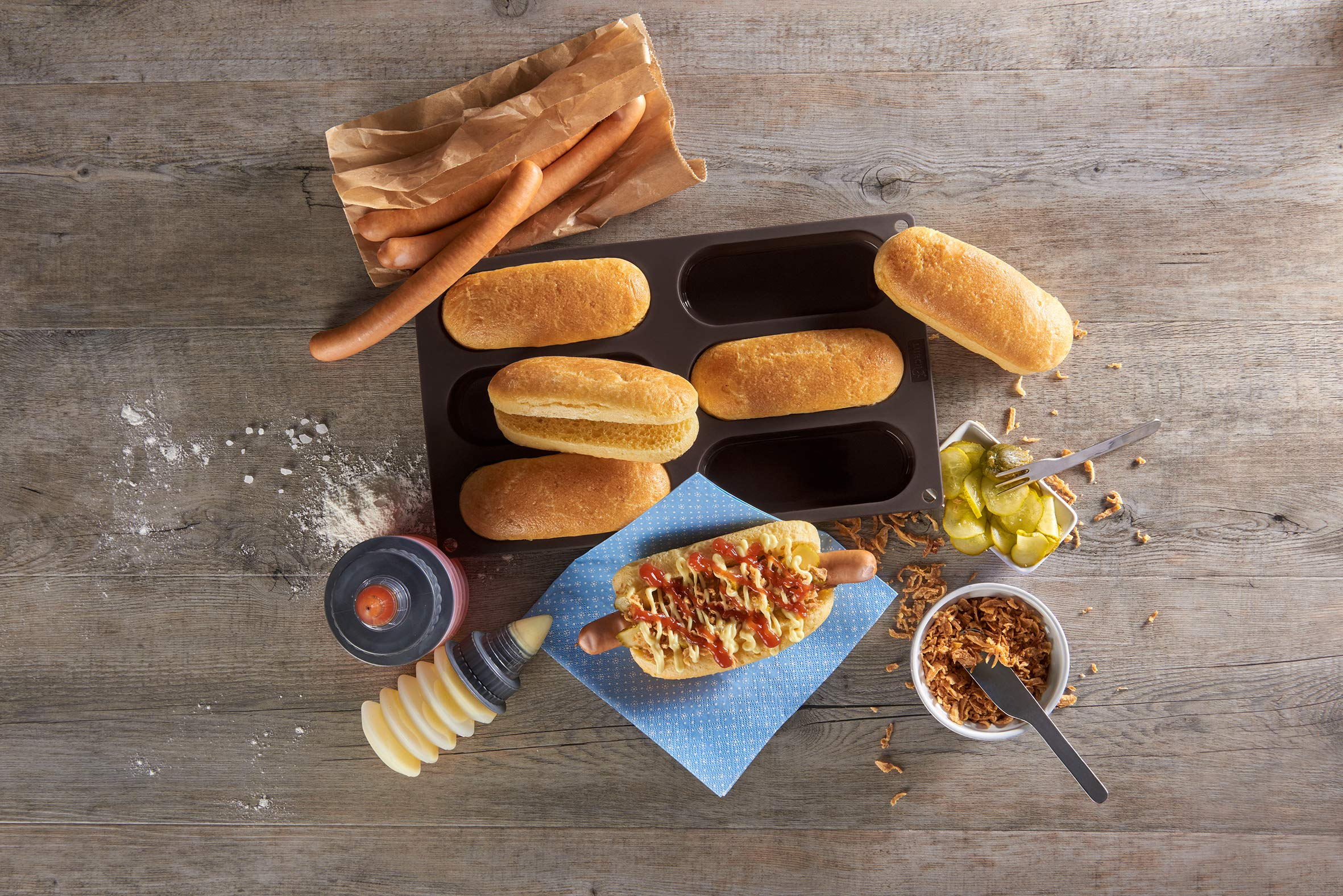 8 Gitter Brötchen Brotform Backformen Baguette Backform Laib Antihaft Hot Dog