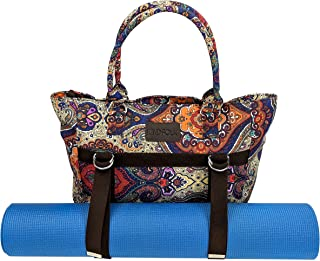 Yoga Mat Bag Tote Carrier with Three Pockets and Zipper Top