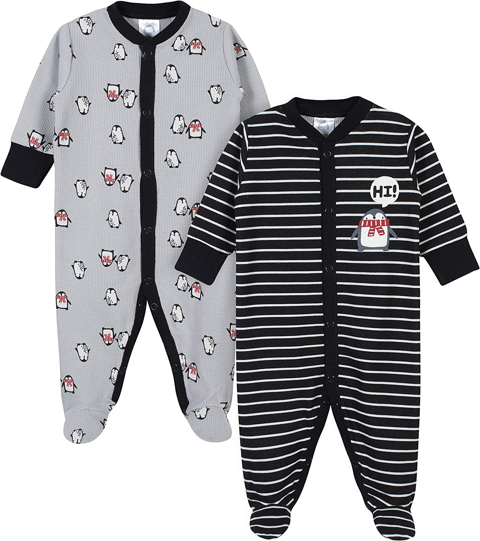 Gerber Baby Boys 2-Pack Thermal Sleep N Play