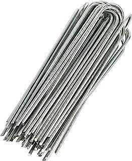 GardenMate 100 Erdanker VERZINKT aus Stahldraht 200mm lang, 25mm breit, Durchmesser 3,8mm, runder Kopf - Für extrem Harte Böden