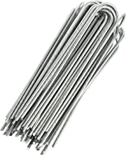 GardenMate 50-Pack Anti-Rust 8'' 9 Gauge Heavy-Duty U-Shaped Garden Securing Stakes/Spikes/Pins/Pegs - Hot Dipped Galvanized Sod Staples for Anchoring Landscape Fabric, Many More Applications