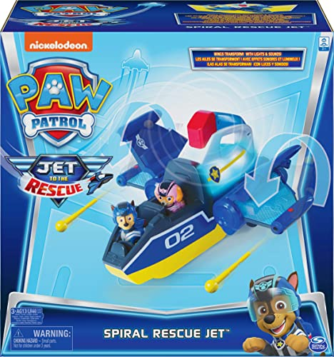 Paw Patrol Jet to The Rescue Deluxe Transforming Spiral Rescue Jet with Lights and Sounds Amazon Exclusive