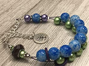 Life Tree Abacus Counting Bracelet Knitting Row Counter
