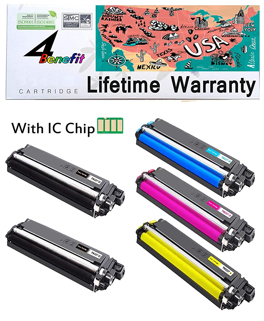 4Benefit Compatible Toner Cartridge Replacement for Brother TN223 / TN227 Black Cyan Yellow Magenta 5 Pack rkm05737938