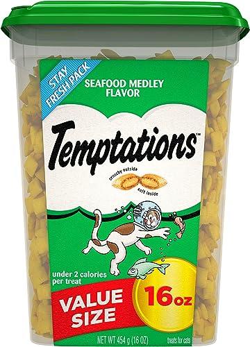 Temptations Classic Crunchy and Soft Cat Treats, 16 oz. Tub