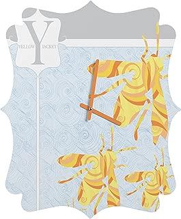 Deny Designs Jennifer Hill, Mister Yellowjacket, Quatrefoil Clock, Small
