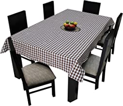Airwill, 100% Cotton Yarn-Dyed Multicolor Checks with 6/8 Seater Tablecloth, Sized 140cm Width and 180cm Length, Pack of 1 Piece