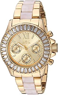 Invicta Women's Angel Quartz Watch with Stainless Steel Strap, Gold, 20 (Model: 27299)