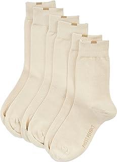 Nur Die, 487819/Damen Passt Perfekt Socken 3er Calcetines, Opaco, Beige (beige 355), 39/42 para Mujer