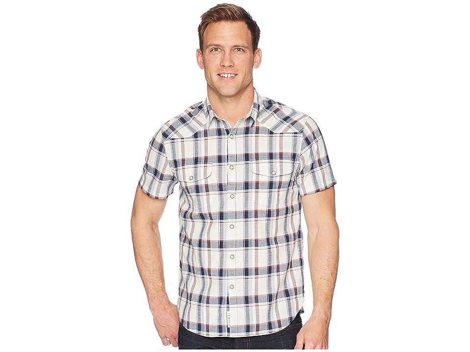 Lucky Brand Short Sleeve Santa Fe Western Shirt (Salted Blue) Men