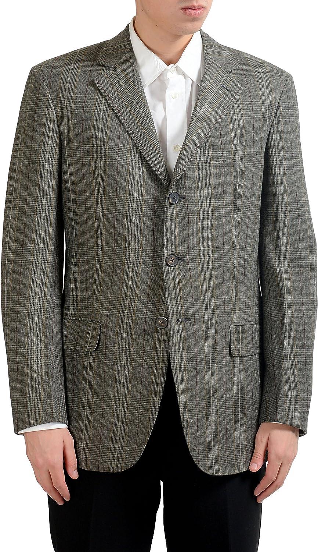 Gianfranco Ferre Wool Men's Plaid Blazer Sport Coat US 40 IT 50