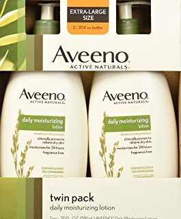 Aveeno Aveeno Active Naturals Daily Moisturizing Lotion, New 2 Pack Of 20 Fl Ounce Pump, 1 Fl Ounce