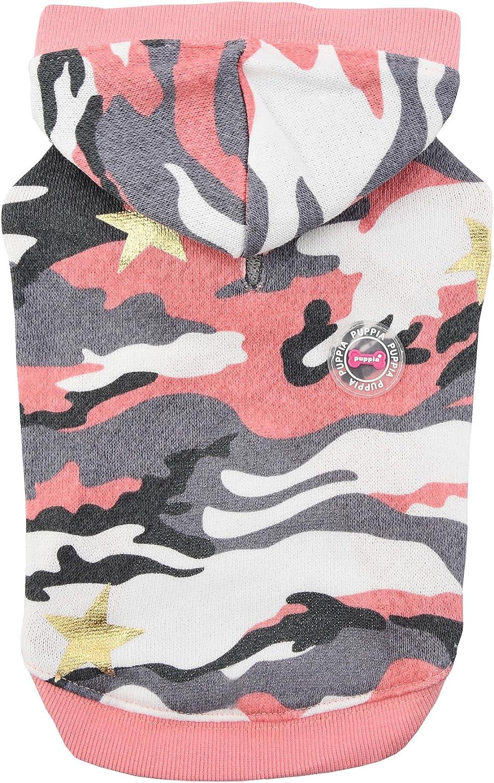 Puppia PASATS1604PCS Ensign Hooded TShirt, Small