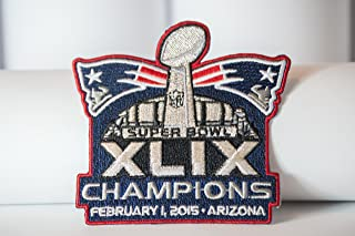 2014 NFL Super Bowl Xlix 49 Champions New England Patriots Embroidered Patch By Pbear Shop