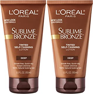 Sunless tanning lotion by L'Oreal Paris, Sublime Bronze Tinted Self-Tanning Lotion, 2 count