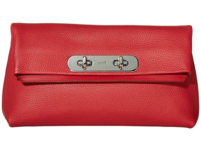 COACH Pebble Leather Swagger Clutch | 6pm