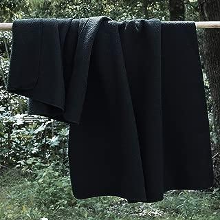 PuTian 100 Percent Australian Soft Merino Wool Blanket Warm Throw for Winter Autumn Lightweight OliveGreen 70by38 inch