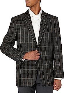 معطف رجالي من Haggar مطبوع عليه شعار Windowpane مقاس مناسب رياضي سترة عادية