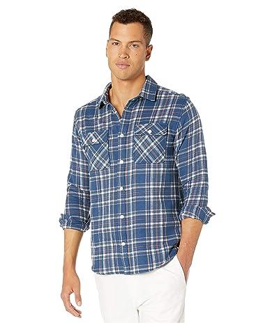 RVCA Avett Flannel Long Sleeve (Navy) Men