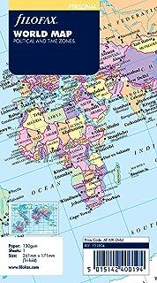 Filofax Personal Size Organiser World Map, Multicolor