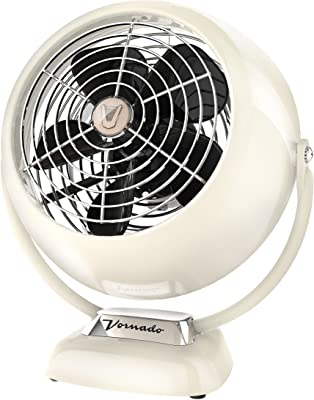 Vornado VFAN Jr. Vintage Air Circulator Fan, Vintage White