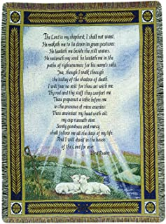 Manual 50 x 60-Inch Tapestry Throw, 23rd Psalm The Lord Is My Shepherd