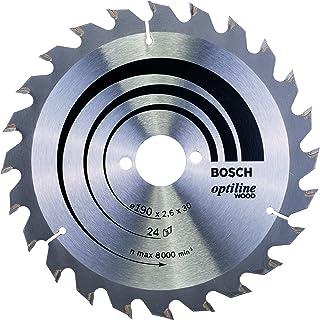 Bosch 2608640615 Optiline trä cirkelsåg blad, 190 mm x 2,6 mm x 30 mm, 24 tänder, silver