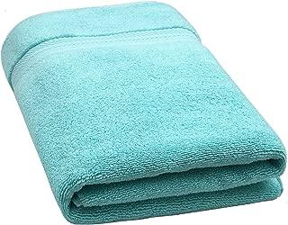 "Bloom Pima Zero Twist Bath Towel - 27"" x 54"" - Premium Ultra Soft, High Absorbency Pima Cotton - Quick Drying Luxury Spa Bath Towels - 600 GSM (Turkish, 1 Pack)"