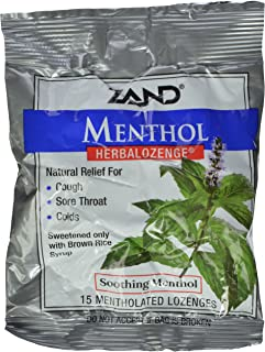 Zand HerbaLozenge Menthol | Peppermint & Eucalyptus Lozenges w/Herbal Blend for Soothing Throat | No Corn Syrup, No Cane S...