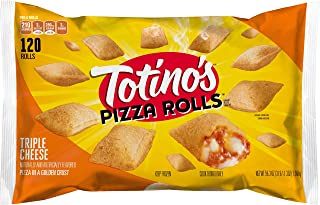Totino's Pizza Rolls, Triple Cheese, 120 Rolls, 59.3 oz Bag (frozen)