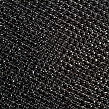 Riegel VPM-1217-EBY Basket Weave Vinyl Placemats, Black, Set of 4