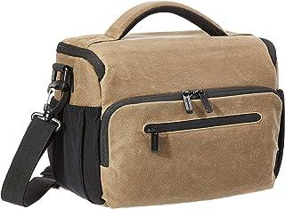 AmazonBasics – Bolsa bandolera para cámaras vintage tela encerada marrón