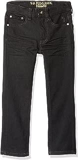 U.S. POLO ASSN. Little Boys' Straight Leg Jean, Flex Denim Black Wash, 5