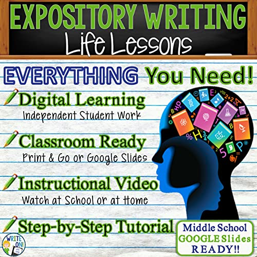 Expository Writing Essay - Distance Learning, Independent Student Instruction, In Class Lesson, Instructional Video, PPT, Worksheets, Rubric, Graphic Organizer, Google Slides – Life Lessons
