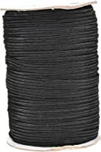Mandala Crafts Flat Elastic Band, Braided Stretch Strap Cord Roll for Sewing and Crafting; 1/4 inch 6mm 50 Yards Black