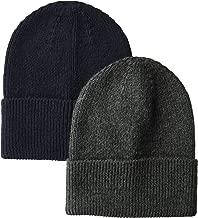 Amazon Essentials Men's  2-Pack Knit Beanie Hat