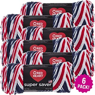 Red Heart 98928 Super Saver Yarn 6/Pk-Americana, Pack