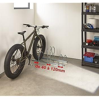 Mottez b129 V3 X L Aparcabicicletas (3 bicicletas sobre 2 niveles Fat Bike, gris: Amazon.es: Bricolaje y herramientas