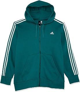 Adidas Men's Essentials 3-Stripes Full Zip Brushed Jacket
