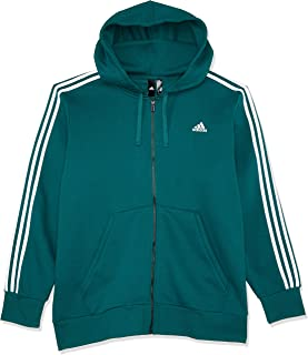 Adidas Men's Essentials 3-Stripes Full Zip Brushed Jacket