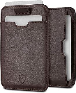 Vaultskin Chelsea ultra-slim leather card-protecting RFID wallet (Brown)