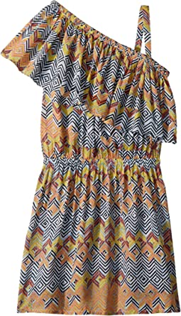 Ella Moss Girl All Over Print One Shoulder Dress