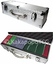KakapopoTCG B3 Silver Lockable Metal Storage Carry Case Deck Box Toploader Trading Cards Games Deck Protector Sleeve MTG Magic The Gathering YGO Yugioh Arkham Horror Pokemon Top Loader C. A. H.