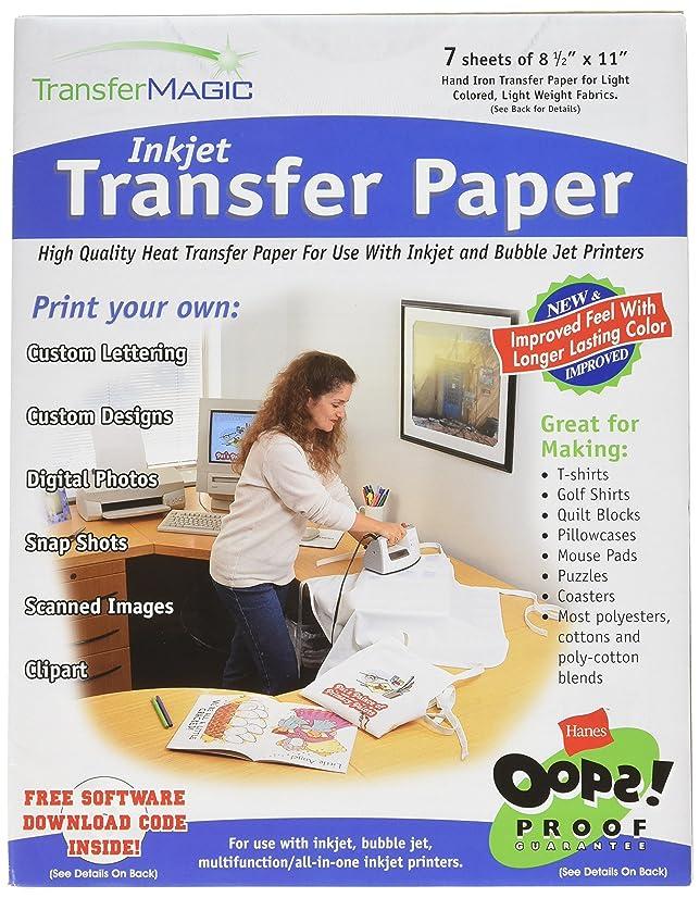 Transfer Magic Ink Jet Transfer Paper-8-1/2 X11 7/Pkg
