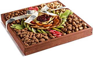 The Nuttery Floral Premium Fresh Dried Fruit and Nuts Gift Tray