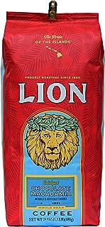 Lion Coffee, Chocolate Macadamia Flavor Medium Roast - Whole Bean, 24 Ounce Bag