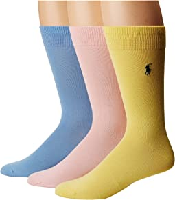 Supersoft Flat Knit 3-Pack Socks