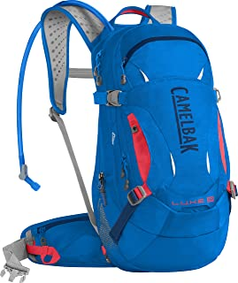 CamelBak L.U.X.E. Low Rider Protector 14 Bike 3L Backpacks, Carve Blue/Fiery Coral, One Size