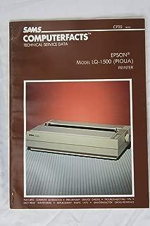 Epson Lq1500 Printer/Book (Computerfacts Series)